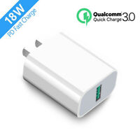 18W USB Home Wall Fast Charger QC 3.0 for Cell Phone iPhone Samsung LG Android