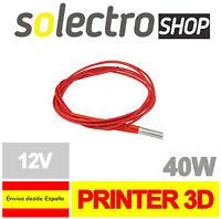 CARTUCHO CALENTADOR CERAMICO 12V 40W Cartridge Heater 3D Printer Extrusor I0050