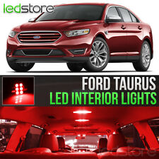 2010-2018 Ford Taurus Red Interior LED Lights Kit Package