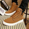 Fashion Mens Oxfords Casual High Top Shoes Leather Shoes Canvas Sneakers New^6