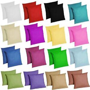 2er Pack Kissenbezug mit Reißverschluss Kissenhülle 100% Baumwolle Renforcé