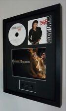 Michael Jackson Bad Framed Original CD Plaque-Certificate Exclusive to us