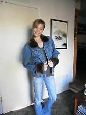 Classic Levi's Jeans Jacket w/ Genuine Sheared Beaver collar and cuffs size 36