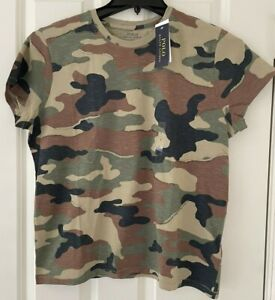 POLO RALPH LAUREN SIZE LARGE SHORT SLEEVE CAMOUFLAGE CAMO TEE TOP NEW NWT