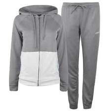 adidas Womens Linear Tracksuit Fleece Long Sleeve Hooded Zip Full Drawstring