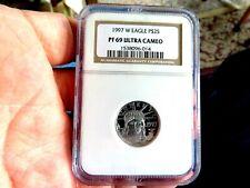 1997-W U.S. $25 Eagle 1/4 oz .9995 Platinum Proof Coin - NGC PF 69 UCAM