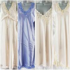 Elegant Satin Chemise & Nightdress Selection Ivory / Purple Size 12