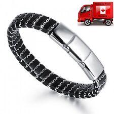 Stainless Steel 316L Genuine Leather Bracelet SP5690
