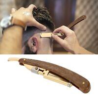1Pcs Pro Barber Salon Cuchillo de afeitar plegable de acero al carbono Navaja de