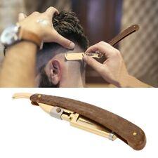 1Pcs Pro Barber Salon Carbon Steel Folding Straight Shaving Razor Knife Coffee
