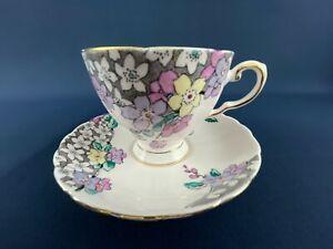 Mid-Century Modern TUSCAN 6041H fine English bone china cup & saucer c.1947+