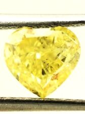 HEART SOLITAIRE LOOSE NATURAL DIAMOND TCW 1.19 Fancy Intense Yellow GIA bridal