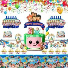 Cocomelon Family Birthday Party Supplies Kids Decor Plate Tablecloth Banner Hat*