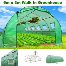 6M Walk In Greenhouse Steel Frame Green Hot Shade House Shed Seed Shelter Tunnel