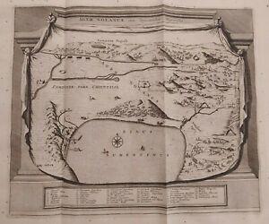 1723 Van der Aa Mappa Ager Nolanus Agro Nolano Napoli Vesuvio Avellino Nola