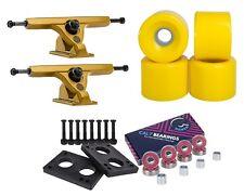 "Caliber Longboard Trucks 50° 10"" Gold + Cal 7 70mm Wheels Skateboard Combo"