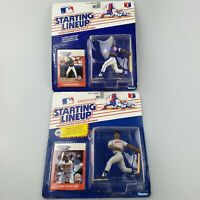 (2) New 1988 Kirby Puckett, Andre Dawson Starting Lineup MLB Action Figure Card