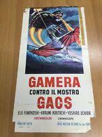 Locandina Cinema Originale 33x70 cm GAMERA CONTRO IL MOSTRO GAOS
