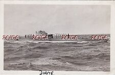 "French Navy Real Photo RPPC. ""Diane"" Submarine. Sunk by internal Explosion. 1917"