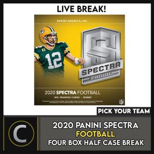 2020 PANINI SPECTRA FOOTBALL 4 BOX (HALF CASE) BREAK #F554 - PICK YOUR TEAM