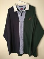 Vintage 90s Tommy Hilfiger Sailing Yachting Lotus Rugby Shirt XL