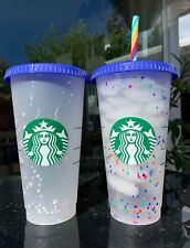 Starbucks Confetti Color Changing Cup Rainbow Pride Straw Summer 2020 Reusable