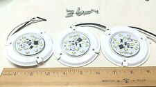 """(Qty 3) Surface Mount RV 12V 3W Light Fixture 3.25"""" with 12 LEDs No Lens Covers"""