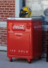 Premium Coca Cola Chest Miniature w Green Bay Packers Helmet 1/24 Scale Diorama