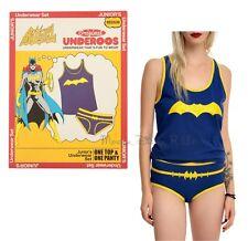 New DC Comics BATGIRL UNDEROOS Girls Underwear Tank Top & Panty Set Size L