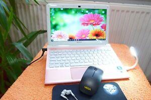 Sony Vaio SVE111 POWER Lady Netbook Rosa Pink l 11 Zoll HD l AKKU NEU l 8GB RAM