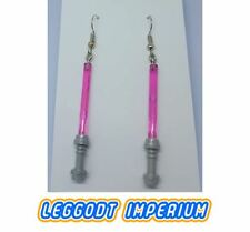 LEGO Custom Dangle Earrings - Pink Lightsaber - Star Wars FREE POST