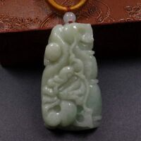 Certified Grade A 100% Natural Green Jadeite Jade Pendant 龙 Dragon Loong 10991