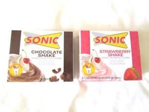 Sonic Chocolate Shake and Strawberry Shake Instant Pudding Discontinued NIB