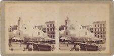 Alger Algérie 2 Photos contrecollées Stéréo Stereoview Vintage albumine ca 1890