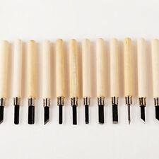12Pcs/set Wood Carving Hand Chisel Tool Kit Set Woodworking Professional Gouges