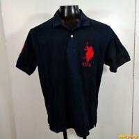 U.S. POLO ASSN. S/S Classic Golf Polo Shirt Mens Size M Blue cotton