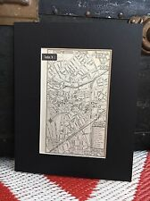 City Map Trenton New Jersey 1958 Mid Century Black Matted 8x10 Art Print travel