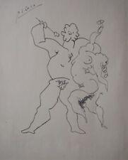 Pablo Picasso. Original ink on paper.