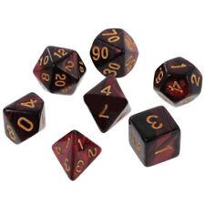 7*Polyhedral Dice Set For DND MTG RPG Dungeons& Dragons D10 D8 D6 D4 Red Black