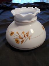 Vintage Country style Yellow Dasies Shade for Electric/Oil Lamp 7in wide base