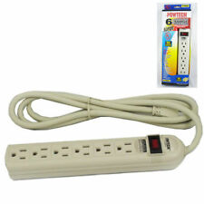 Heavy Duty 6 Outlets Power Strip Surge Protector With Safety Circuit Breaker