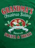 'Grandmas Christmas Bakery' Long Sleeve T-Shirt Sz XL 16-18                 G62