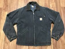 Mens Vtg Carhartt Detroit Duck Blanket Lined Rancher Work Distressed Jacket L