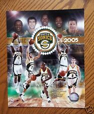 2005 SEATTLE SONICS Team Photo: Ray Allen, Rashard Lewis, Ridnour, Radmanovic