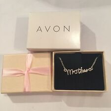 Avon~Silver Plated MOTHER Script Necklace BRAND NEW In Presentation Box