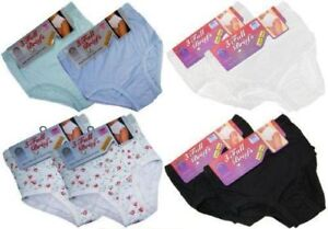 Ladies 3 PACK Full Mama Briefs Cotton Rich Knickers Underwear Womens Lingerie