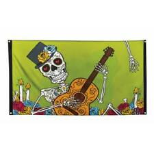 Large Day of the Dead Flag (90x 150cm) Halloween Skeleton Party Decoration