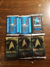 6 Sealed Star Trek Cards ~ Booster packs, Next Generation, 25th Ann. 1991