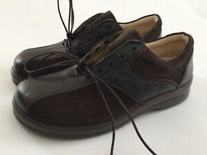Footprints Birkenstock Topeka Brown Leather Lace Up Shoe EU 38/US Women 7, Men 5