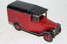 Dinky #34b, Pre-War Royal Mail Van, Smooth Hubs, Open Windows, Repainted